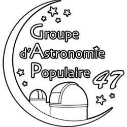 Le GAP47 est toujours fermé jusqu'à nouvel ordre. Profitez-en pour visiter les plus de 220 pages de notre site (qui, lui, est ouvert) et apprendre de nombreuses choses sur l'astronomie et sur le GAP47.